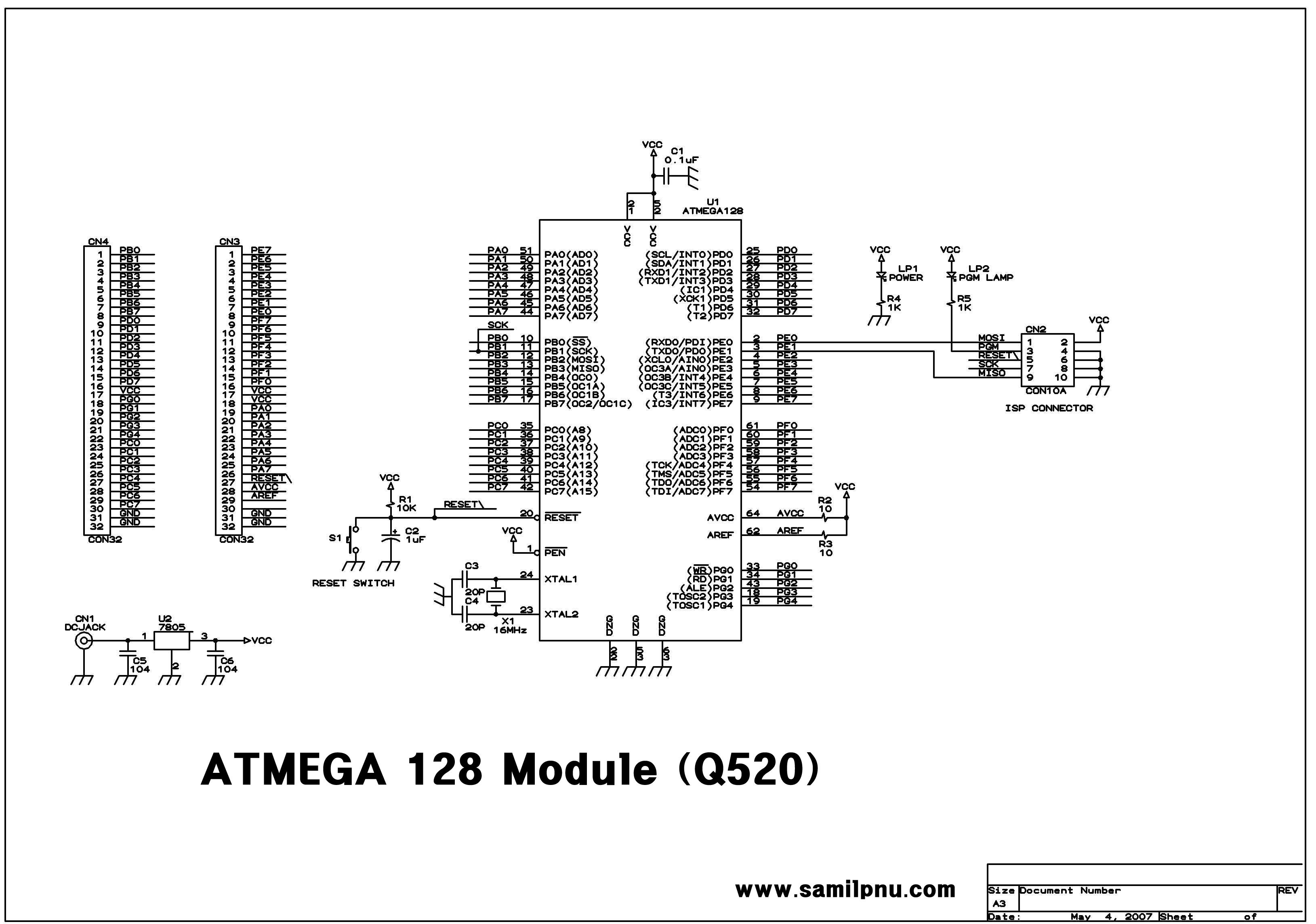 q520  atmega 128   16au module